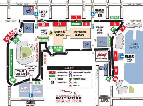 Baltimore Grand Prix map