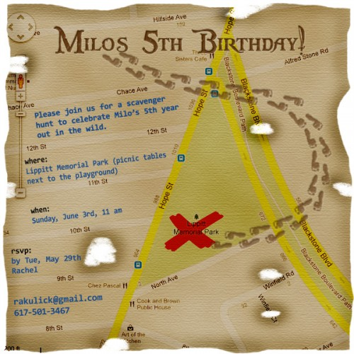 milo's 5th birthday invitation